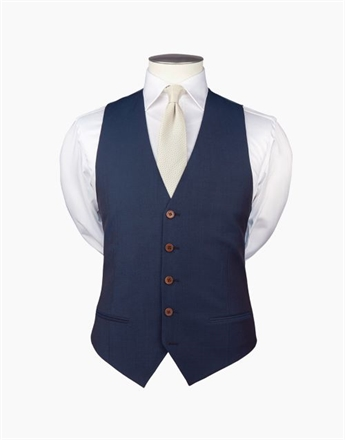 Rembrandt Curtis Contrast Twill Waistcoat-hire-Sparrows
