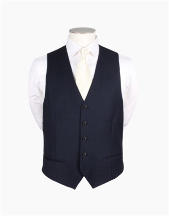 Rembrandt Curtis Navy Waistcoat-hire-Sparrows