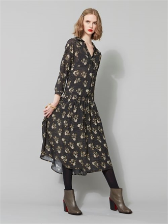Isacc & LuluL Roma Print Dress-womenswear-Sparrows