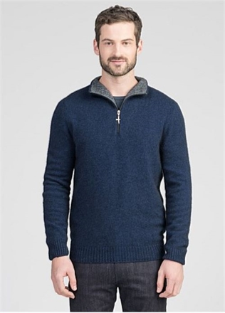 Untouched World Estuary Half Zip-mens-Sparrows