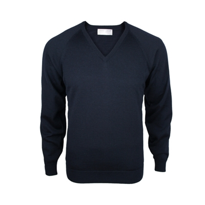 Silverdale Merino V Neck Jersey-mens-Sparrows