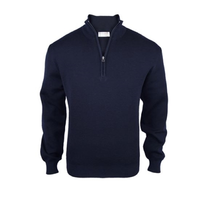 Silverdale 1/4 Zip Wool Jersey-mens-Sparrows