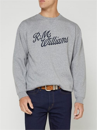 R.M Williams Script Crew Neck Sweat-mens-Sparrows