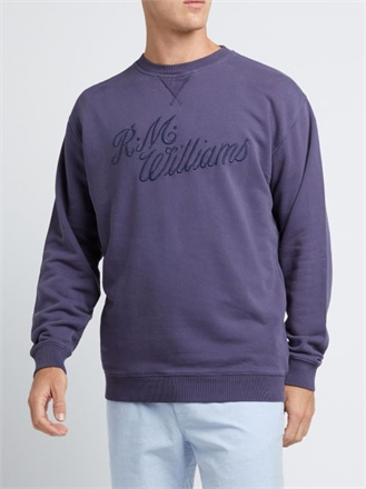 R.M.W Script Crew Sweat-mens-Sparrows